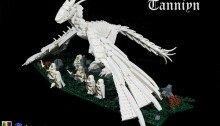 Гигантский дракон в окружении белых магов