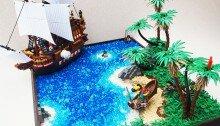 Мини-корабль и пираты