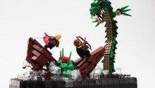 Океанический LEGO-дракон напал на судно