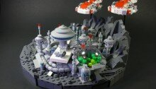LEGO-миниатюра. Космическая колония на планете «Эферна-1»