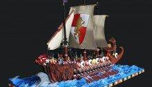 LEGO-галера в открытом море