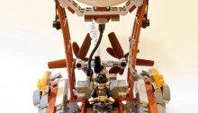 Дирижабль в стиле стимпанк из LEGO